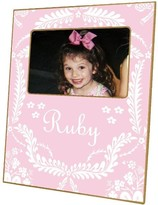 The Well Appointed House Light Pink Provencial Decoupage Photo Frame-Can Be Personalized