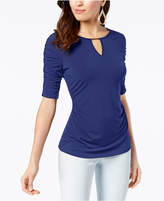 Thalia Sodi Ruched Elbow-Sleeve Top, Created for Macy's