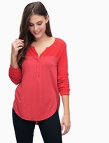 Splendid Mixed Media Thermal Henley