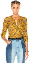 Etoile Isabel Marant Boden Printed Chiffon Silk Top