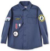 Stella McCartney blue badges shirt