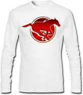 JINGDNA Maple-leaf Red Calgary Stampeders Logo Men's Long Sleeve T Shirt