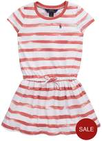 Ralph Lauren Short Sleeve Stripe Jersey Dress