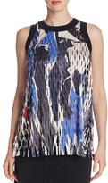 DKNY Laser-Cut Collage Print Top