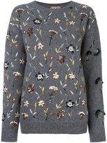 No.21 embellished floral jumper - women - Polyamide/Polyester/Alpaca - 40