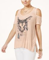 Jessica Simpson Cold-Shoulder Graphic T-Shirt
