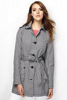 Classic Women's Tall Harbor Trench Coat-Black Gingham