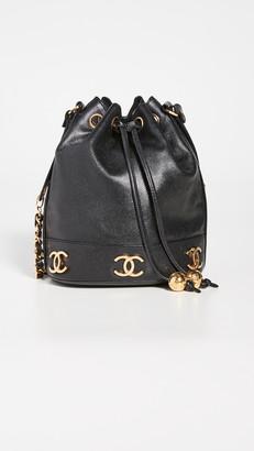 What Goes Around Comes Around Chanel Black Caviar 3CC Small Bucket Bag