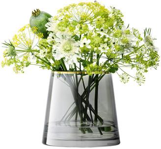 LSA International Sorbet Glass Vase/Lantern - Liquorice - 16cm