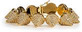 Eddie Borgo Gold Crystal Encrusted Pave Cone Crystal Bracelet