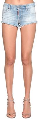 DSQUARED2 Cotton Denim Micro Shorts