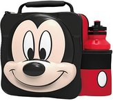 Mickey Mouse. MICKEY MOUSE Kids Children 3D Lunch Box Bag With Sport Water Bottle