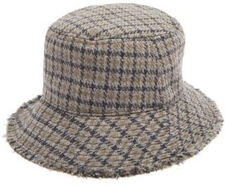Paul Smith Checked Wool Bucket Hat - Grey