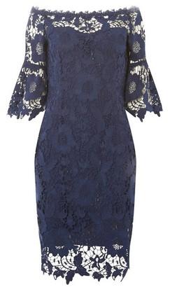 Dorothy Perkins Womens **'Showcase Navy 'Milani' Bardot Bodycon Dress