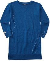 Ralph Lauren Splatter Printed Sweatshirt Dress, Big Girls (7-16)