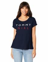 Tommy Hilfiger Damen Cn Tee Ss Logo Schlafanzugoberteil