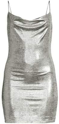 Alice + Olivia Harmie Metallic Mini Dress