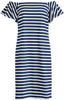 Ralph Lauren Petite Striped Off-The-Shoulder-Dress