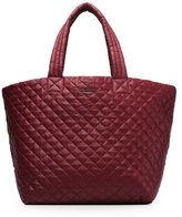 M Z Wallace Large Metro Tote Steel Metallic Oxford
