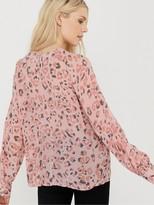 Monsoon Ola Animal Embellished Top - Blush