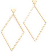 Gorjana Liv Drop Hoop Earrings