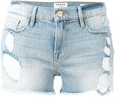 Frame distressed denim jeans - women - Cotton/Spandex/Elastane - 25