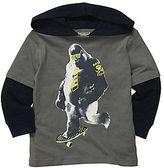 Osh Kosh Gorilla Hooded Layered Tee - Boys 4-7