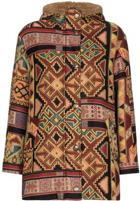Etro Aztec-pattern shearling jacket