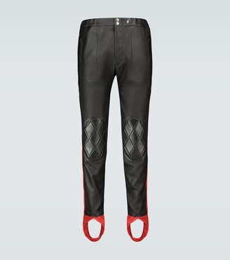 Alexander McQueen Leather stirrup pants