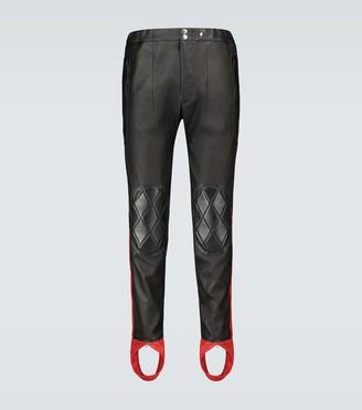 Alexander McQueen Leather stirrup pants