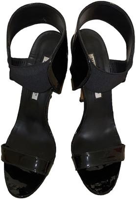 Manolo Blahnik Black Patent leather Sandals