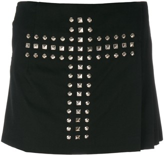 Comme des Garcons Pre-Owned cross stud overlapping shorts