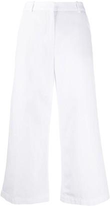 Aspesi Cropped Wide Leg Trousers