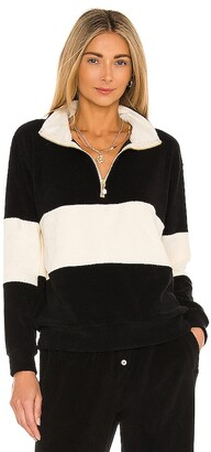 DONNI Terry Half Zip Pullover