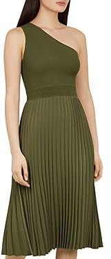 Ted Baker Miriom One-Shoulder Mixed-Media Dress