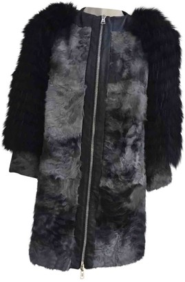 Giuliana Teso Grey Raccoon Coat for Women