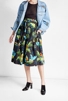 Marc Jacobs Printed Cotton-Blend Midi Skirt