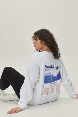 Nasty Gal Womens Snake Valley Plus Graphic Sweatshirt - White - 18-20, White