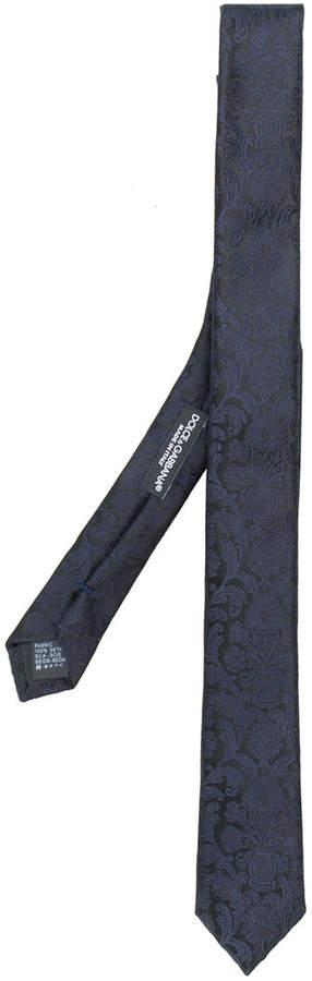 Dolce & Gabbana paisley slim tie