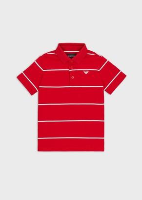 Emporio Armani Polo In Jersey Interlock A Righe
