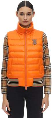 Burberry Logo Quilted Nylon Vest