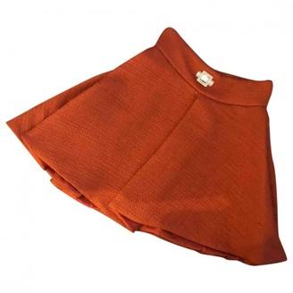 Elisabetta Franchi Orange Skirt for Women
