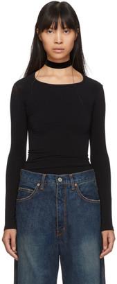 Junya Watanabe Black Stretch Jersey Long Sleeve T-Shirt