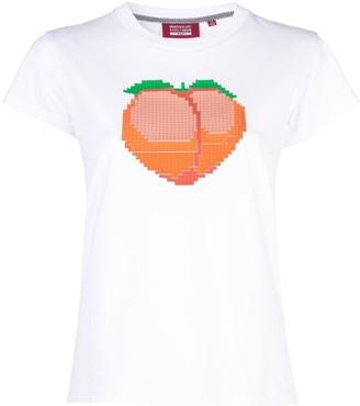 Mostly Heard Rarely Seen 8-Bit Peach T-shirt