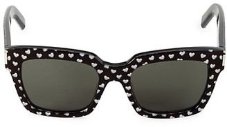 Saint Laurent Lasercut Heart 54MM Square Sunglasses