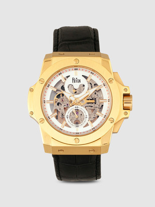 Reign Watches Commodus 48mm Leather Band Watch