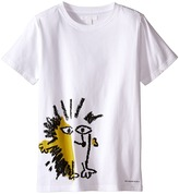 Burberry Short Sleeve Printed Hedgehog Graphic Tee Boy's Short Sleeve Pullover