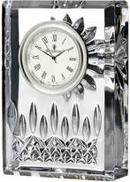 Waterford Small Crystal Lismore Clock, White