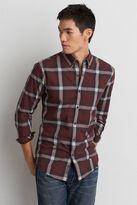 American Eagle Outfitters AE Plaid Heathered Poplin Shirt