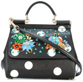 Dolce & Gabbana Sicily embellished leather tote - women - Calf Leather/Leather - One Size